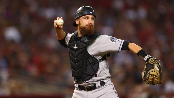 Jonathan Lucroy batted .265 between the Rangers and Rockies last season.