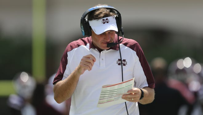 Mississippi State coach Dan Mullen explained the horizontal passing game against South Alabama.