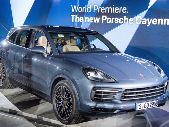 FILE - In this Aug. 29, 2017 file photo the new Porsche