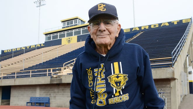 Al Leibert coached in various roles at Battle Creek Public Schools, Lakeview High School and St. Philip High School for 65 years before retiring.