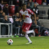 Wappingers Falls' Tyler Adams, a New York Red Bulls midfielder, chases down the ball against the San Jose Earthquakes on April 13 in San Jose, California.