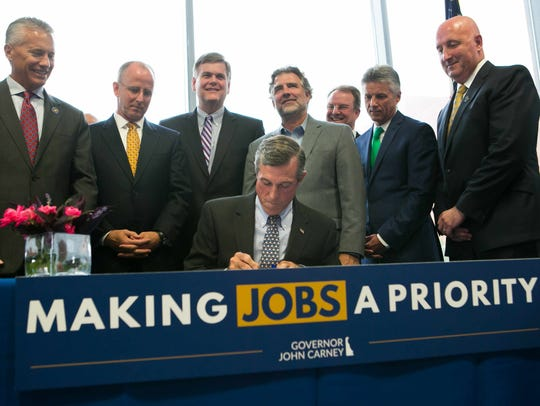 Gov. John Carney signs House Bill 226 to replace Delaware's