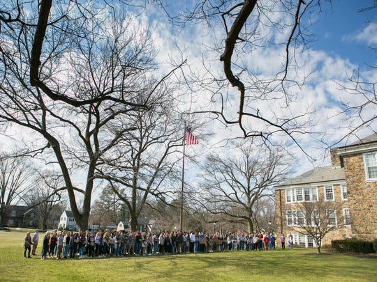 Over 150 students at Wilmington Friends School gathered