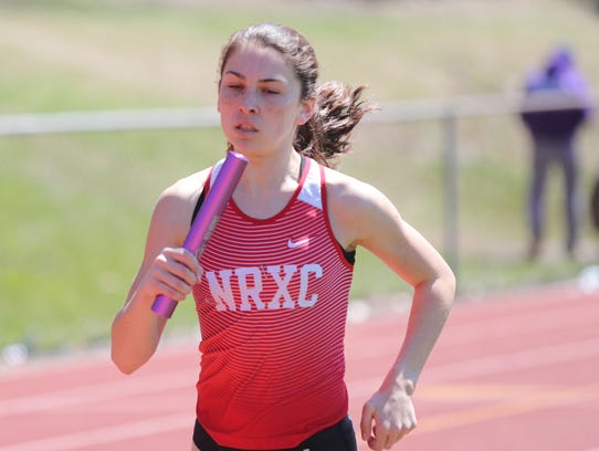 North Rockland's Haleigh Morales competes during Day