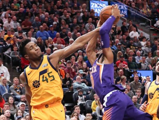 Mar 15, 2018; Salt Lake City, UT, USA; Utah Jazz guard