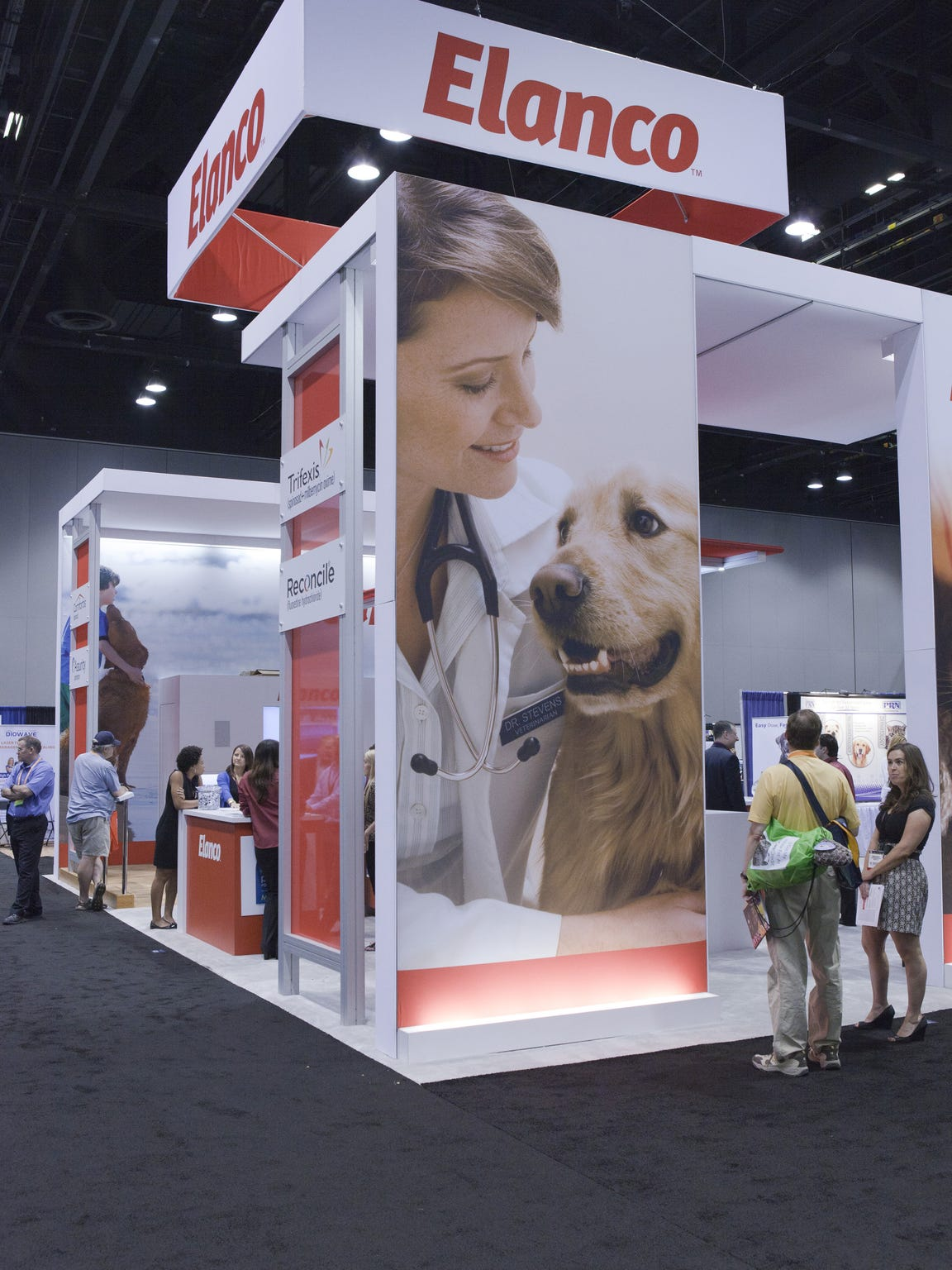 The Elanco booth at the American Veterinary Medical Association's annual vonvention at McCormick Place in Chicago, July  2013.