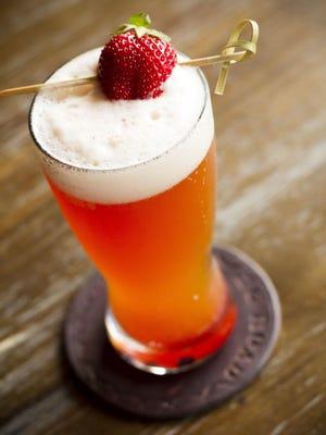 Stone Cold Fox, with Stone IPA, strawberry, honey and chamomile soda.