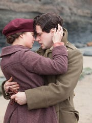 "Alicia Vikander as Vera Brittain and Kit Harington as Roland Leighton in a scene from ""Testament of Youth."""