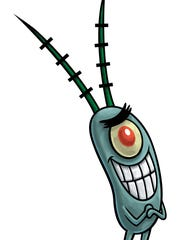 "Image of Sheldon J. Plankton, a character in the SpongeBob Squarepants cartoon voiced by former East Brunswick resident Doug ""Mr. Lawrence"" Osowski."