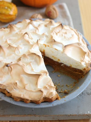 Citrus pumpkin meringue pie