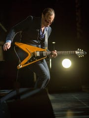 Bonamassa plays his 1958 Flying V during a recent concert.