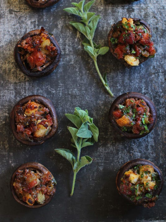 Food KitchenWise Stuffed Mushrooms