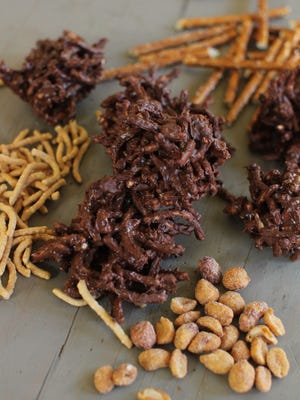 No-bake haystack cookies in Concord, N.H. These cookies are from a recipe by Katie Workman.