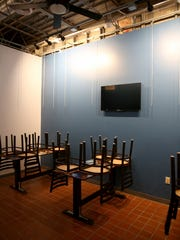 Event space at Lucky Turtle which will also provide for local artists to display their work. Lucky Turtle, a new bourbon and craft beer bar in Finneytown will open December 26, 2015.