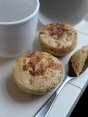 Coconut cinnamon roll microwave mug muffins are a perfect warming treat for a family breakfast.