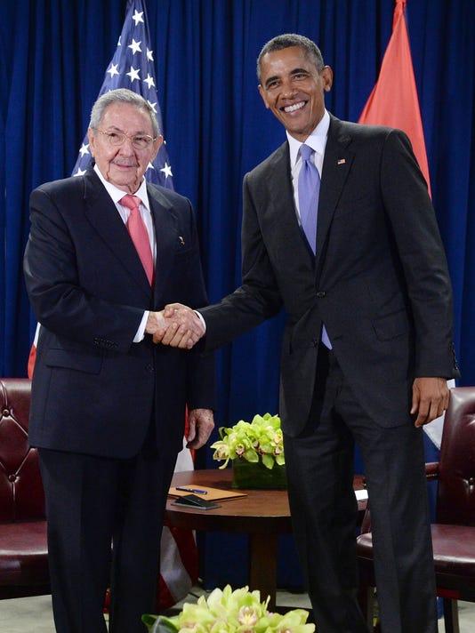 Obama Cuba Castro