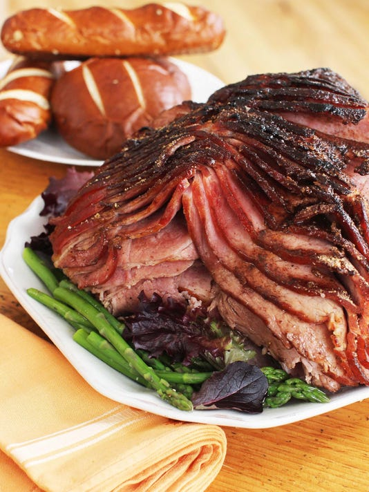 Food American Table Glazed Ham (2)