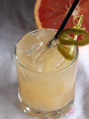 Another popular cocktail at the Little Bar is the Spicy Palmoma – made with chili-infused vodka and grapefruit juice, and spiced up even more with some jalapeno slices.