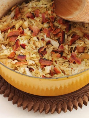 Simple beer-braised cabbage with bacon may be modest in cost and appearance, but it's quite grand in flavor.