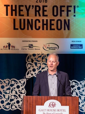 ESPN personality Kenny Mayne was the guest speaker at the 2016 They're Off! Luncheon at The Galt House on Friday morning. 4/22/16