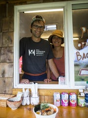 Jordan and Momo Antonucci, owners of the Miso Hungry