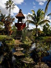 The Balinese Shrine in the Asian Garden at the Naples Botanical Garden, shown Jan. 16, 2013.