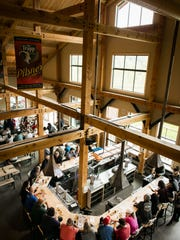 The Trapp Family Lodge Bierhall in Stowe features high