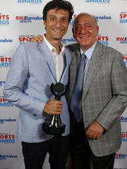 Ocean's Elliot Gindi takes a photo with guest speaker Dick Vitale at the APP Sports Awards.