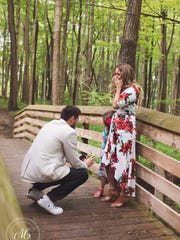 After proposing to Cassandra Reschar on May 27, Grant Tribbett presented her daughter with a heart-shaped necklace as a symbol of his commitment to her, as well.