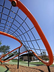 The Orange Monster, a free-form playground at the Eastmark community center in Mesa as seen in 2015