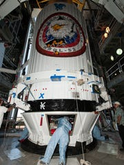 A payload fairing containing the National Reconnaissance