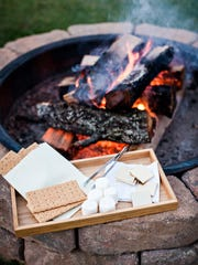 The main guesthouse provides complimentary s'mores fixings. Attendants will also take care of lighting the fire at one of several fire pits located around the property.