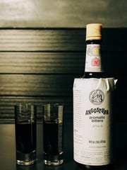 """Angostura bitters shots are a """"rite of passage"""" at Truss & Twine, says bar manager Dave Castillo."""