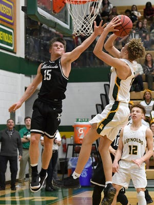 Reynolds hosted North Buncombe in boys basketball at Reynolds High School on Friday, Feb. 2, 2018.