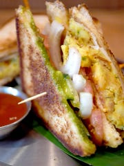 A Mumbai Club sandwich is new to the menu at Chai Pani