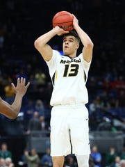 Mar 8, 2018; St. Louis, MO, USA; Missouri Tigers forward Michael Porter Jr. (13) puts up a shot during the second half of the second round of the SEC Conference Tournament against the Georgia Bulldogs at Scottrade Center. Georgia won 62-60. Mandatory Credit: Billy Hurst-USA TODAY Sports