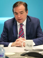 Cincinnati Mayor John Cranley speaks with The Enquirer's