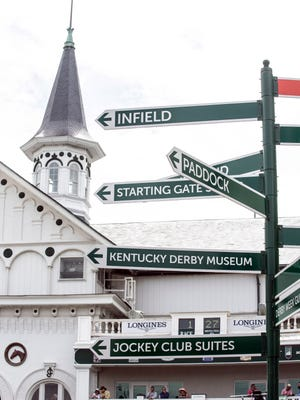 Added signage provides a more clear path of navigation through the extra large crowds at Churchill Downs. 5/3/18
