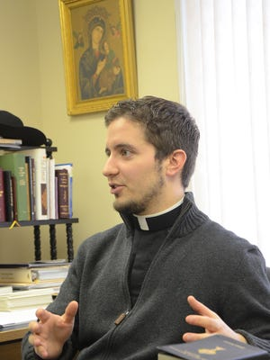 Rev. Francis Marotti talks about his work as a Roman Catholic chaplain at Bronson Battle Creek.