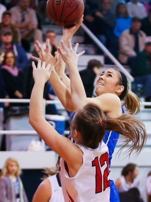 Presbyterian Christian forward Trista Magee (2) shoots against East Rankin during the Lady Bobcats' win Friday.