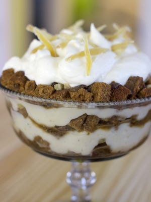 Christmas gingerbread trifle. Gingerbread is an iconic flavor, and aroma, of Christmas.