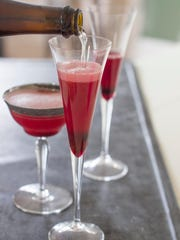The ruby spice bubbles offer a fresh and refreshing way to enjoy sparkling wine.