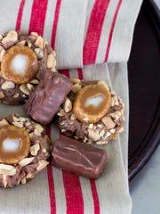 Caramel Peanut Thumbprints
