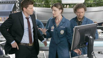 """This week in 2005, we met Booth (David Boreanaz), Bones (Emily Deschanel) and the Jeffersonian crew, including """"bug and dirt"""" guy Hodges (TJ Thyne)."""
