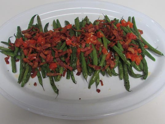 Roasted Green Beans With Crispy Bacon Garlic Amp Tomatoes