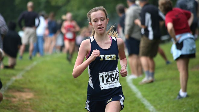 Roberson's Lily Anderson competing in last year's Western North Carolina Cross Country Carnival.