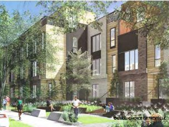 Conceptual Site Rendering of Apartment Buildings at
