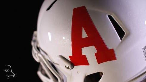 A view of the block A helmet that Arizona will wear for its game against Hawaii on Sept. 17, 2016.