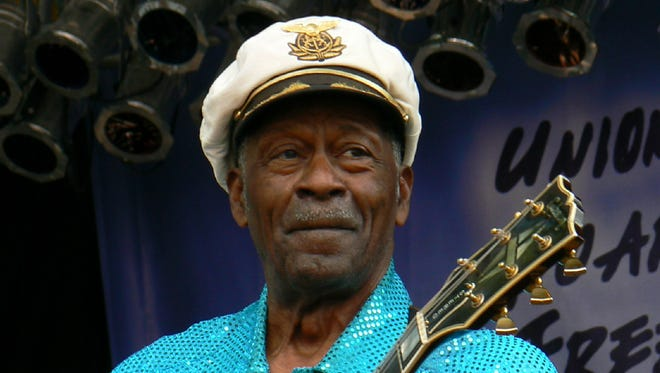 Chuck Berry at the Union County MusicFest on Sept. 15, 2007.