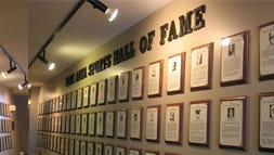 This photo captures a section of the York Area Sports Hall of Fame before the plaques were taken down, packed up and placed in storage. The 122 plaques are in search of a new home.